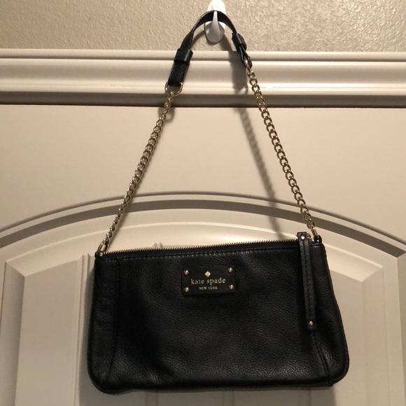 kate spade Handbags - Kate Spade Black leather shoulder bag
